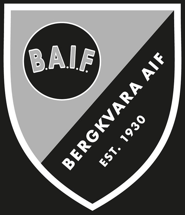 Bergkvara AIF svartvit logotyp