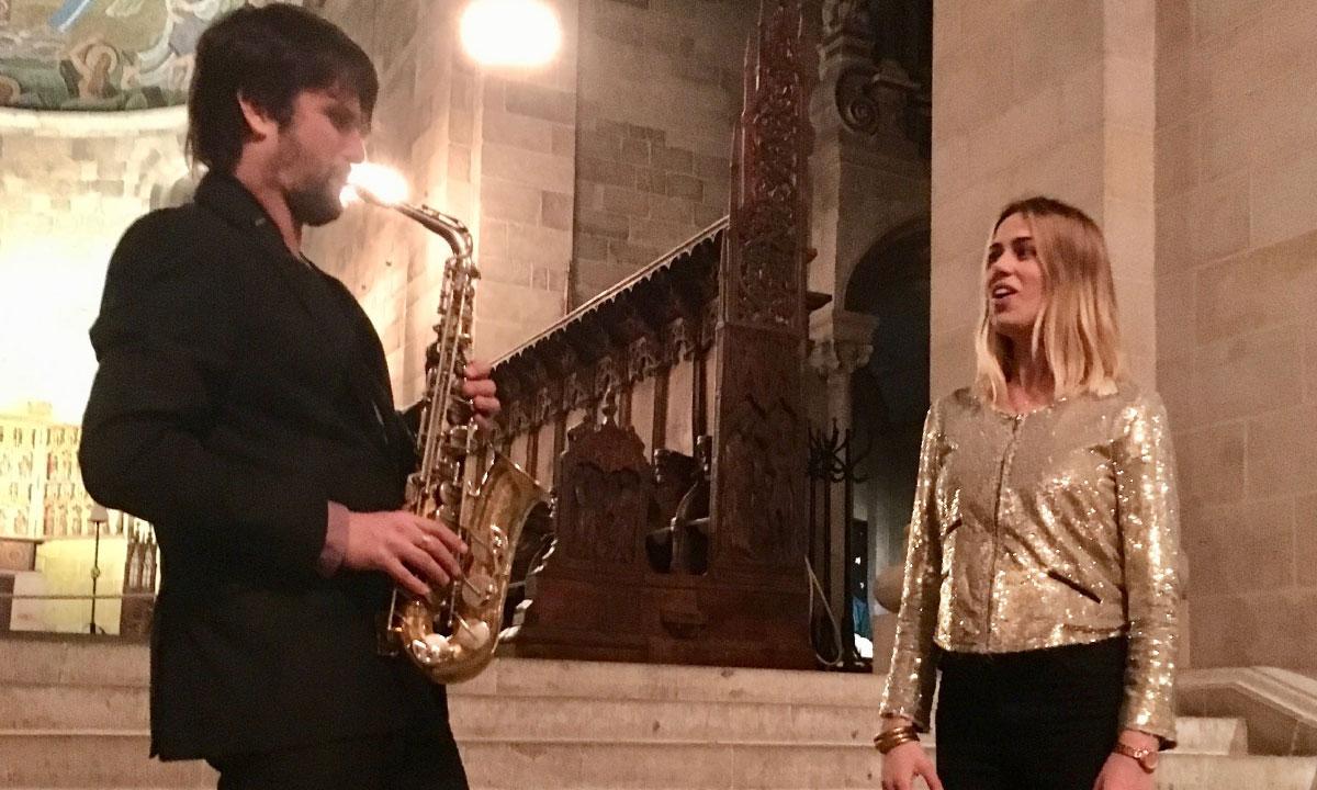 Carl-Henric Fernandi och Sanna Hogman spelar på Skytteholmen