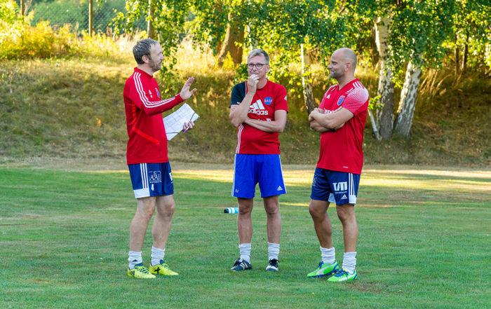Tränare Roger Nilsson, Rickard Johansson och Johan Ceedigh, Bergkvara AIF