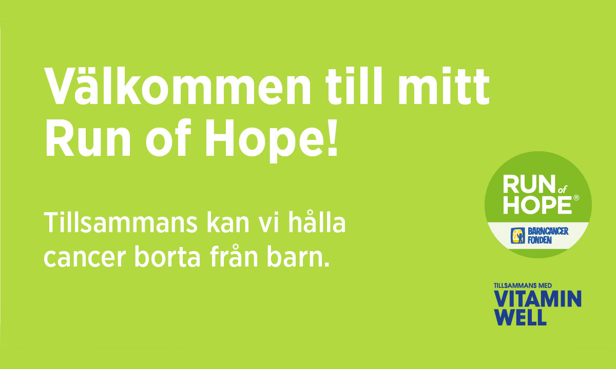 Bergkvara Run of Hope, 18 september 2021